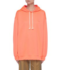 face patch cotton hoodie