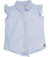 camisa manga sisa azul  offcorss