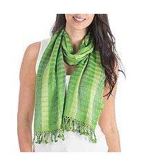 scarf, 'emerald parrots' (guatemala)