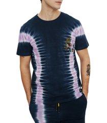 eleven paris men's embroidered flower tie dye t-shirt