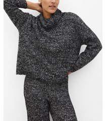mango women's flecked knit sweater