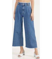 culotte-jeans met gerafelde zoom