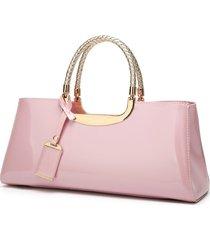 bolso de mano de lentejuelas rosado con lentejuelas