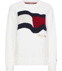 tommy hilfiger ecru cotton sweater
