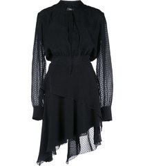 amiri western long sleeve dress - black