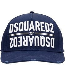 dsquared2 hats in blue cotton