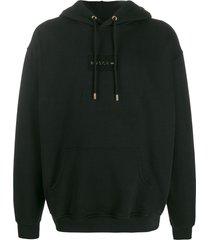 buscemi hooded logo sweater - black