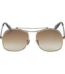 59mm square browline sunglasses