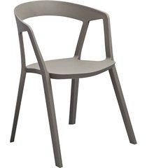 krzesło anda z tworzywa, wygodne, szare