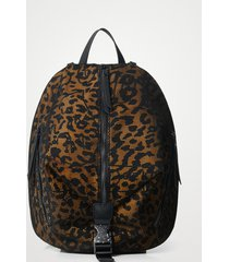 small animal print backpack - yellow - u