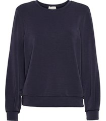 23 the sweat blouse sweat-shirt trui blauw denim hunter