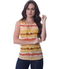 regata love poetry estampada tie dye amarela