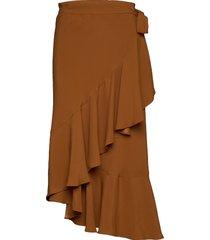 rodebjer hazel twill knälång kjol brun rodebjer