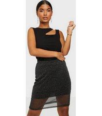 nly trend sparkling mesh mini skirt minikjolar