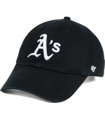'47 brand oakland athletics black white clean up cap