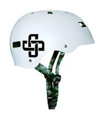 capacete branco fosco fita camuflada iron pro