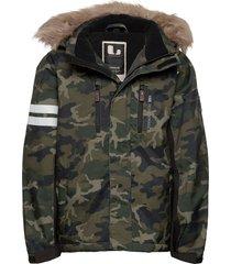 camo jacket outerwear snow/ski clothing snow/ski jacket groen lindberg sweden