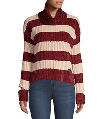 peak-a-boo turtleneck sweater
