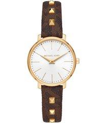 reloj fashion marrón michael kors