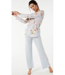 pigiama lungo costa in modal stampa floreale