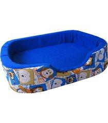 cama para perros tipo cuna mediana -azul