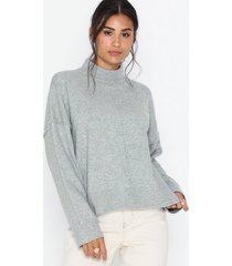 noisy may nmmeryl l/s high neck knit stickade tröjor