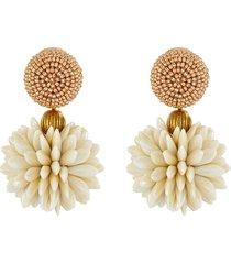 floral bead cluster earrings