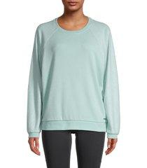 marc new york performance women's roundneck long-sleeve sweatshirt - frost - size l