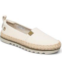 barcelona bay ek+ classic textile sandaletter expadrilles låga creme timberland