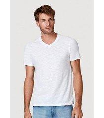 camiseta básica flamê com decote v masculina - masculino