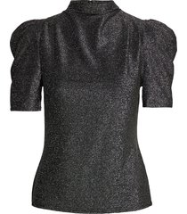 barb top blouses short-sleeved zilver twist & tango