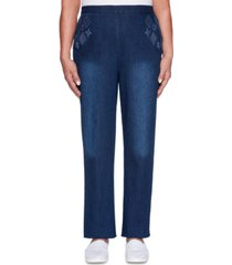 alfred dunner petite autumn harvest embroidered jeans