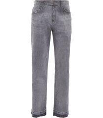 calça masculina double black elast slim - cinza