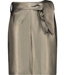 faux leather metallic rok patia  metallic