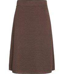 chastity cotton/bamboo knitted skirt knälång kjol brun lexington clothing