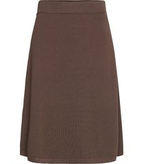 chastity cotton/bamboo knitted skirt knälång kjol brun lexington clothing