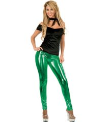 buyseasons women's liquid metal leggings green
