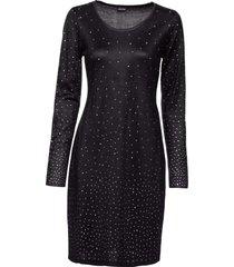 abito in maglia con strass (nero) - bodyflirt