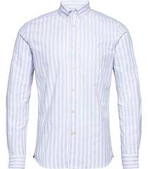 giles button down shirt skjorta casual blå morris