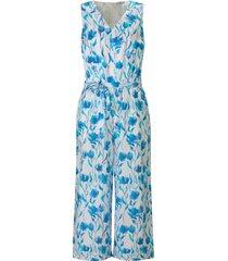 jumpsuit 100% katoen taille-elastiek van peter hahn pure edition blauw
