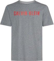 calvin klein heren t-shirt - logo grijs/rood