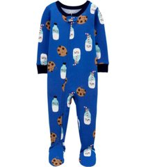 baby boys milk and cookies footie pajamas