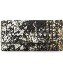 mossy oak camo camouflage rhinestone black western wallet