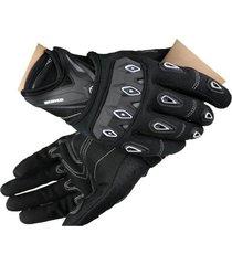 guantes para moto con protección nudillos anti deslizantes marca scoyco color negro talla l