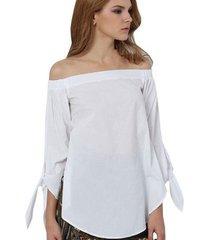 plus size women sexy blouses slash neck off shoulder bow long sleeve casual tops