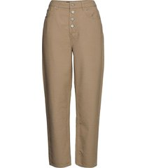 may jeans rechte jeans bruin wood wood