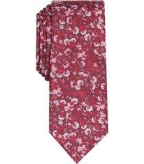 bar iii men's alpine skinny floral tie, created for macy's