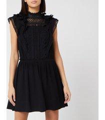 isabel marant women's ianelia dress - black - fr 38/uk 10