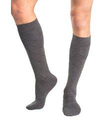calcetin largo lana gris mota