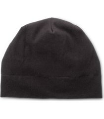 women's lined recycled fleece water repellent quilted beanie with ruched back